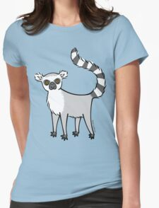 Ring Tailed Lemur Womens Fitted T-Shirt