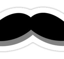 basic mustache Sticker