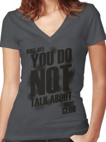 Fight Club - Rule #1 Women's Fitted V-Neck T-Shirt