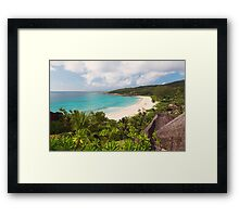 Grand Anse Overlook Framed Print