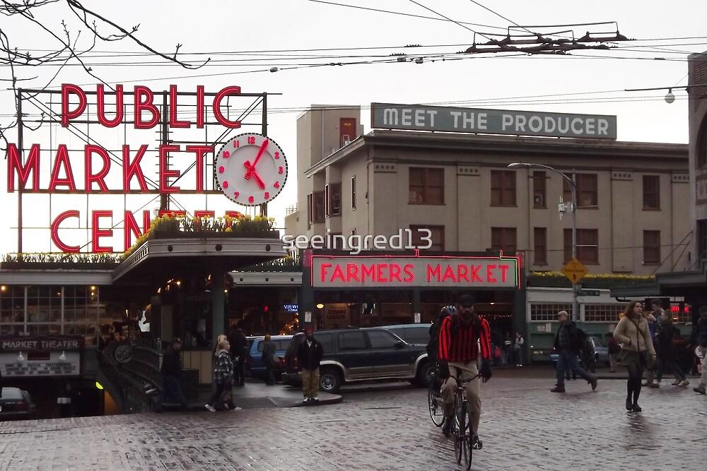 Pike's Public Market Entrance at Dusk - Ta-dah! by seeingred13