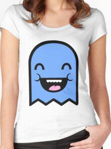 Cute Blue Boy Ghost Women's Fitted Scoop T-Shirt