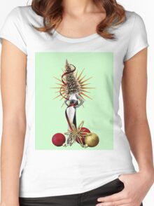 HolidayGlamour Women's Fitted Scoop T-Shirt
