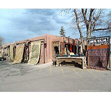 Canyon Road, Santa Fe. Rugs anyone? Photographic Print