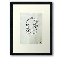 One Line Iron Giant Framed Print