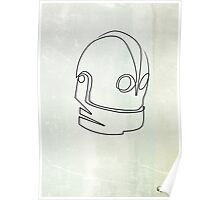 One Line Iron Giant Poster