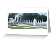 WWII Memorial in Washington, D.C. Greeting Card