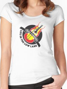 BASS TROMBONE BLACK PRINT Women's Fitted Scoop T-Shirt