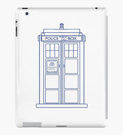 TARDIS minimal small version iPad Case/Skin