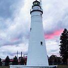 Fort Gratiot Lighthouse on Lake Huron at Dusk by gharris