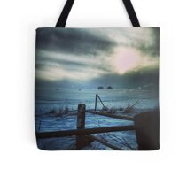Secretive Snow Tote Bag