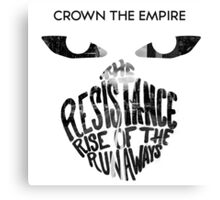 Crown the Empire Typography Canvas Print