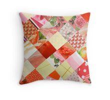 Collagecard: Pink Throw Pillow
