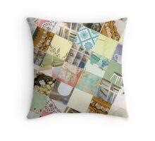 Collagecard: interior Throw Pillow