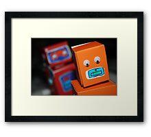 Robot chase Framed Print