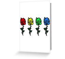 Four Rose Row [Rainbow] Greeting Card