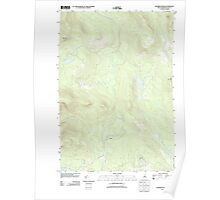 USGS TOPO Map New Hampshire NH Dummer Ponds 20120627 TM Poster