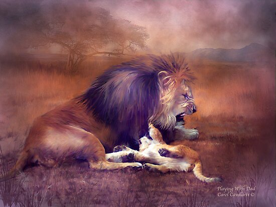 Playing With Dad by Carol  Cavalaris