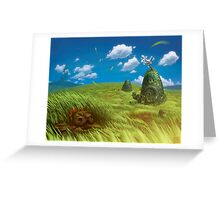 Windy Landscape Greeting Card