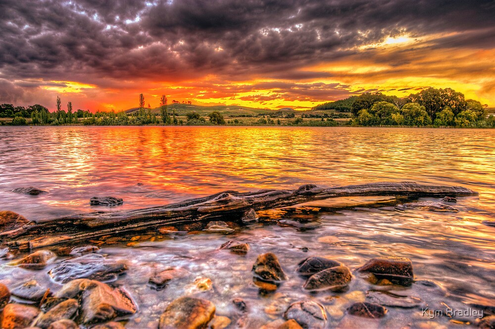Sunset Over Canberra 18th March 2013 by Kym Bradley