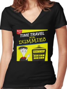 Time Travel For Dummies Women's Fitted V-Neck T-Shirt
