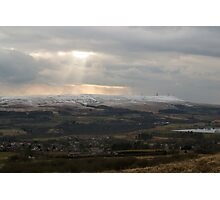 Winter Hill From Cheetham Close. Photographic Print