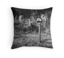 No Fracking Here Throw Pillow