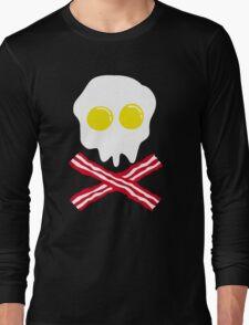 Bacon & Egg Skull Long Sleeve T-Shirt