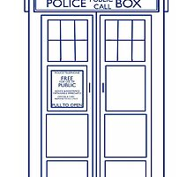 TARDIS minimal large version by facingthewindow