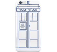 TARDIS minimal large version iPhone Case/Skin
