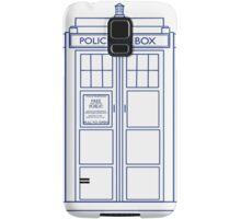 TARDIS minimal large version Samsung Galaxy Case/Skin