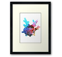 Corsola used Brine Framed Print