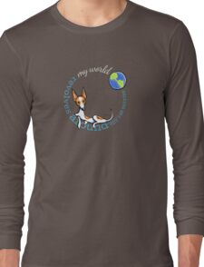 My World My Rat Terrier {dark} Long Sleeve T-Shirt