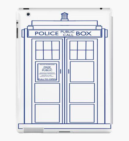 TARDIS minimal large version iPad Case/Skin