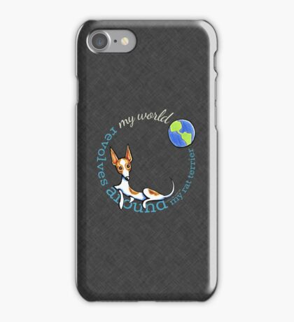 My World My Rat Terrier {dark} iPhone Case/Skin