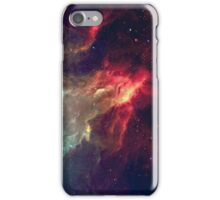Red And Light Blue Nebula iPhone Case/Skin