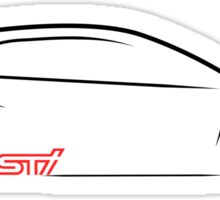 2015 Subaru STI Profile Sticker