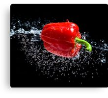 Red Pepper Splash Canvas Print