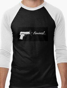 Feminist. Men's Baseball ¾ T-Shirt