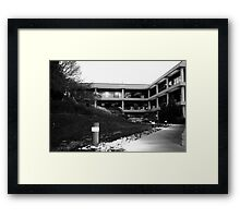 Building complex on the hill Framed Print