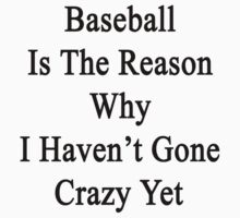 Baseball Is The Reason Why I Haven't Gone Crazy Yet by supernova23