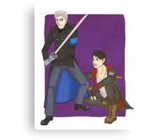 dante and vergil Canvas Print