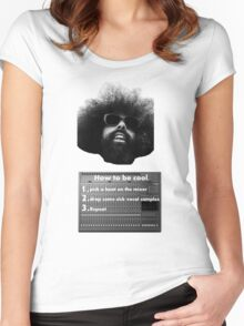 Reggie Watts - How To Be Cool Women's Fitted Scoop T-Shirt