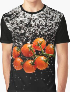Cherry Tomato Splash 1 Graphic T-Shirt