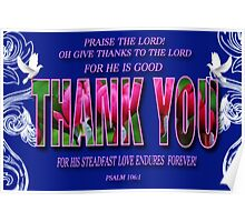 ❤ † THANK U WITH BIBLICAL SCRIPTURE ❤ † Poster