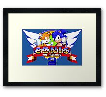 SONIC 2 TITLE SCREEN Framed Print