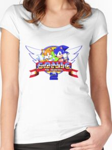 SONIC 2 TITLE SCREEN Women's Fitted Scoop T-Shirt