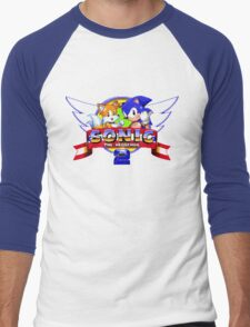 SONIC 2 TITLE SCREEN Men's Baseball ¾ T-Shirt