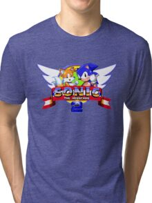 SONIC 2 TITLE SCREEN Tri-blend T-Shirt