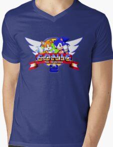 SONIC 2 TITLE SCREEN Mens V-Neck T-Shirt